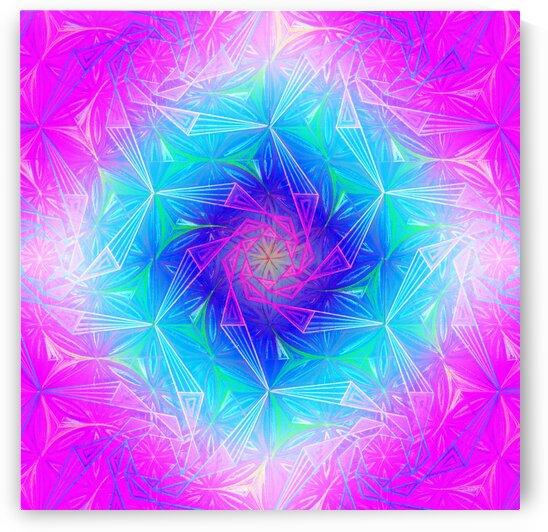 Spirals Kaleidoscope Handdrawing by Tsveta Dinkova