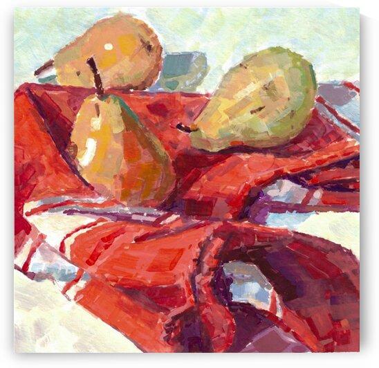 Pear Still Life by Marie Santos - M Santos Art