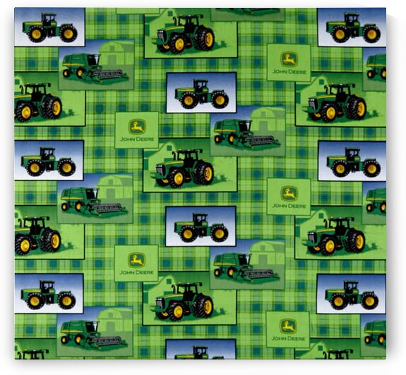 Plaid Patch Allover Green by Mutlu Topuz
