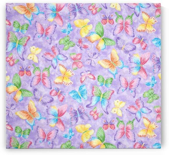 Butterflies Glitter Purple by Mutlu Topuz