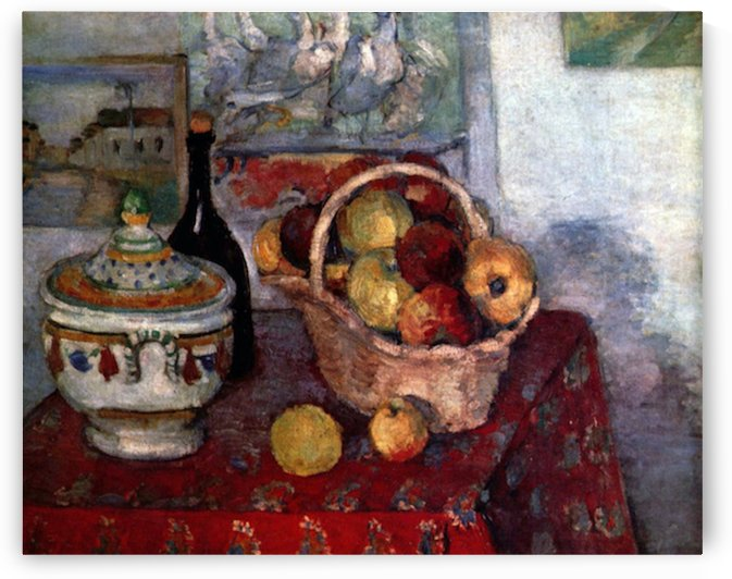 Still life with soup tureen by Cezanne by Cezanne