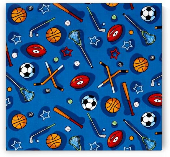 Kids Choice Sports Allover Blue Multi by Mutlu Topuz