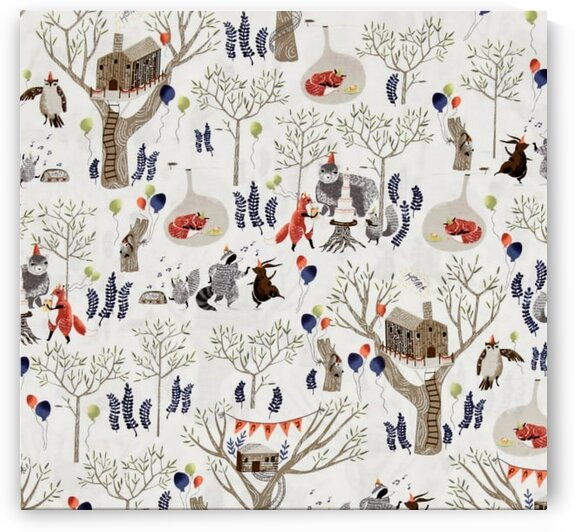 Foxtail Forest Treetop Party Multi by Mutlu Topuz