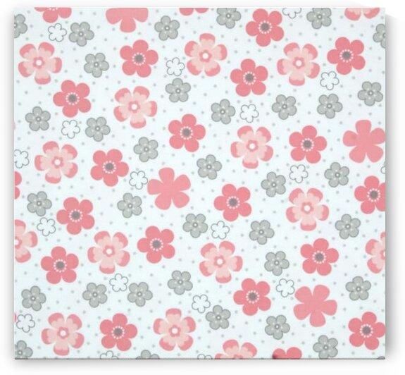 Flannel Daisy Flower Pink by Mutlu Topuz