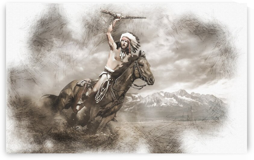 Native Warrior by Ivan Venerucci Italian Style