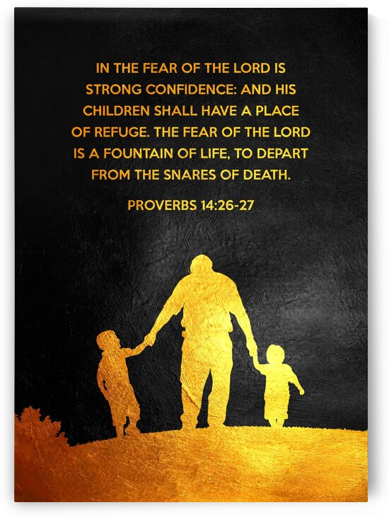 Proverbs 14:26-27 Bible Verse Wall Art by ABConcepts