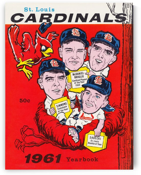 1961 St. Louis Cardinals Yearbook Poster by Row One Brand