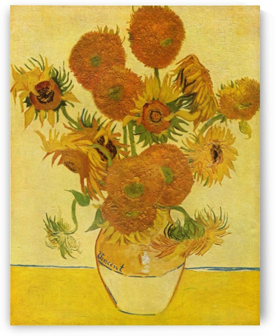 Still life with sunflowers by Van Gogh by Van Gogh