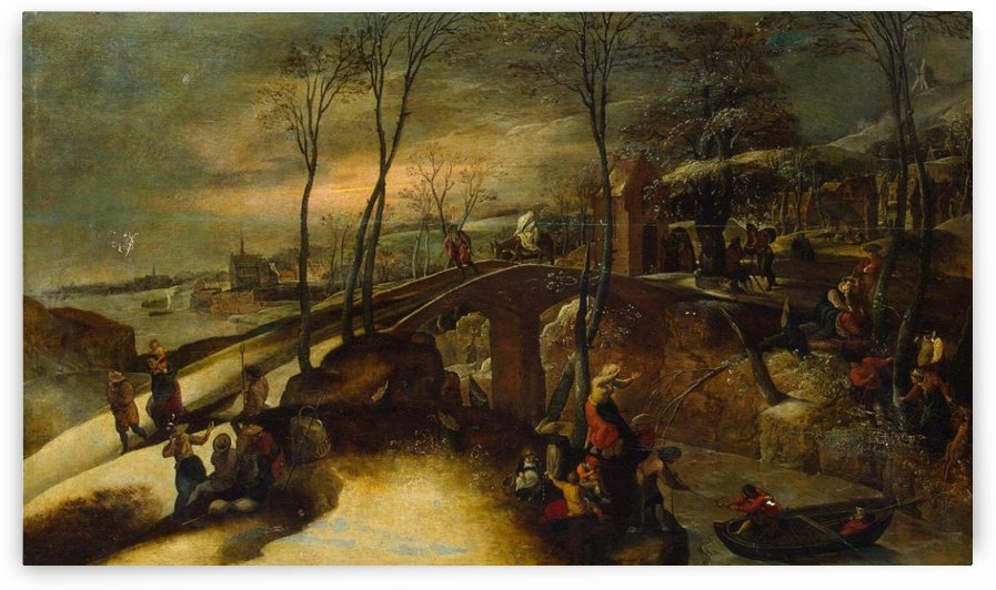 Landscape with the Flight into Egypt by Gillis Mostaert
