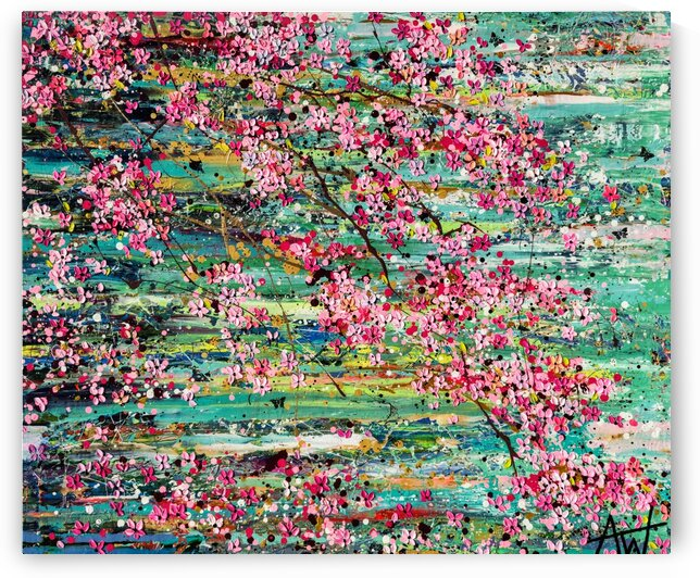 Cherry Blossoms by Angie Wright Art