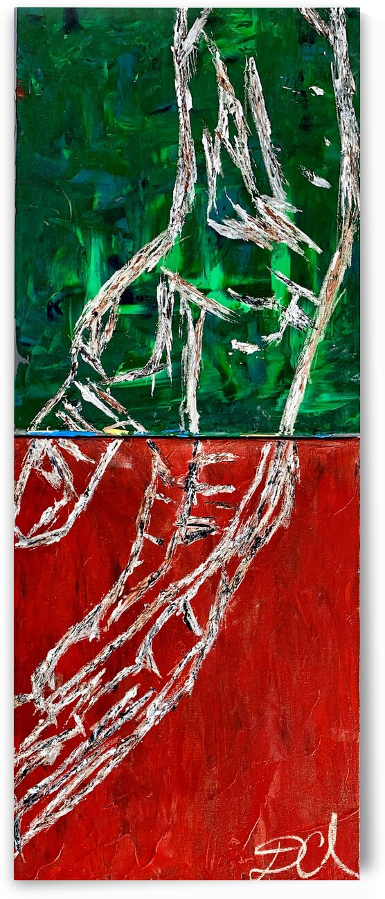 Green and Red Hands  by Darnell Clayton