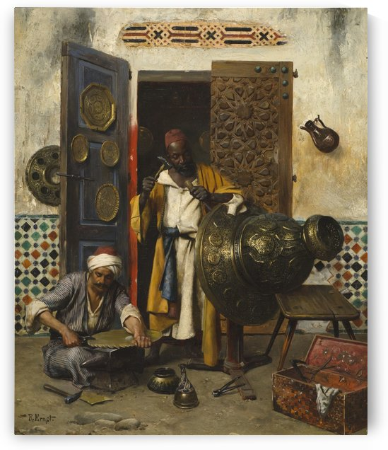 The Metal Workers by Rudolf Ernst