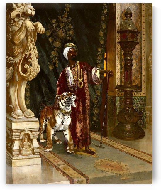 Le Sultan et son Tigre by Rudolf Ernst