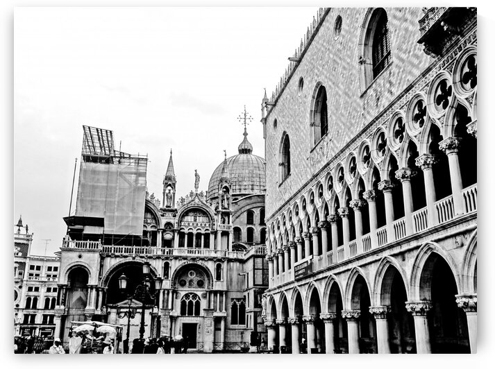 St. Marks Square BW by by Tara