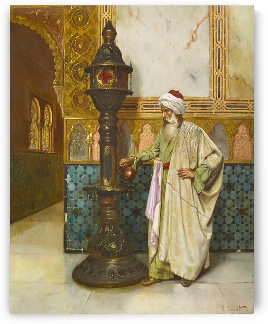 Lamp lighter by Rudolf Ernst