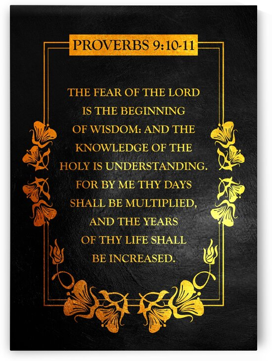 Proverbs 9:10-11 by ABConcepts