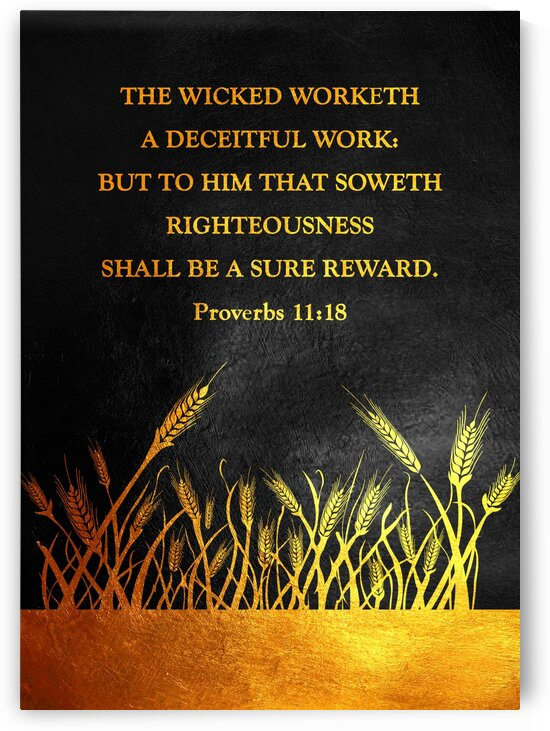 Proverbs 11:18 by ABConcepts