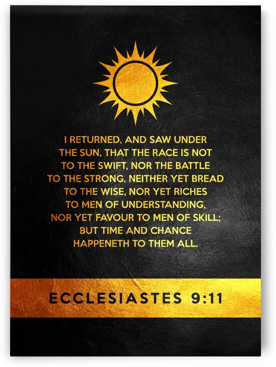 Ecclesiastes 9:11 by ABConcepts