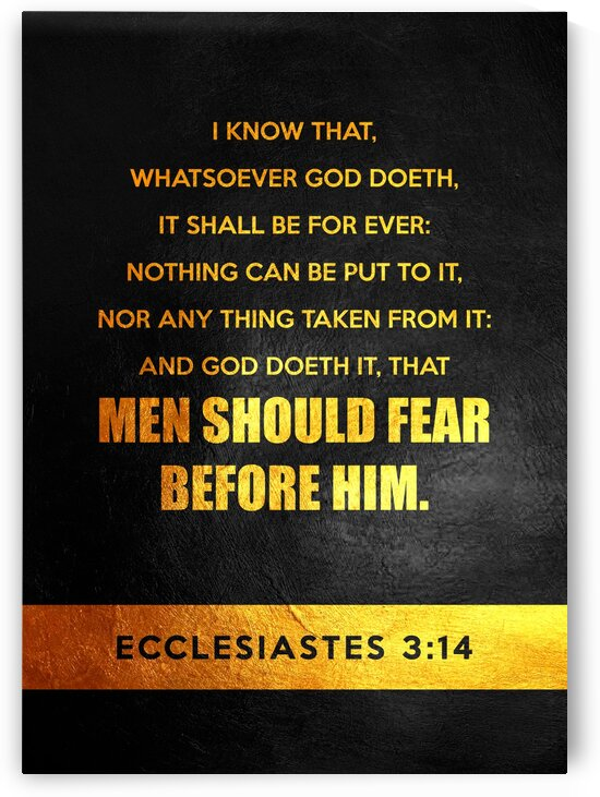 Ecclesiastes 3:14 by ABConcepts