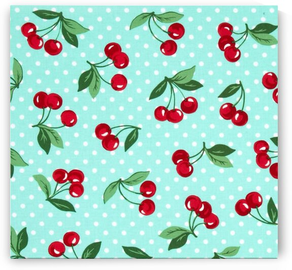 Cherry Dot Mint by Mutlu Topuz
