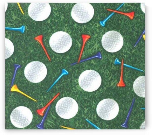 Golf Balls & Tees Green by Mutlu Topuz