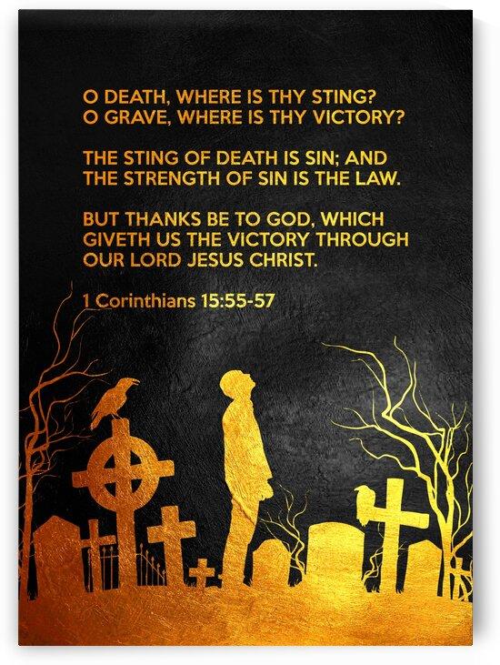 1 Corinthians 15:55-57 Bible Verse Wall Art by ABConcepts