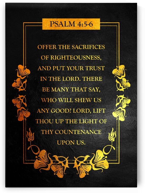 Psalm 4:5-6 by ABConcepts