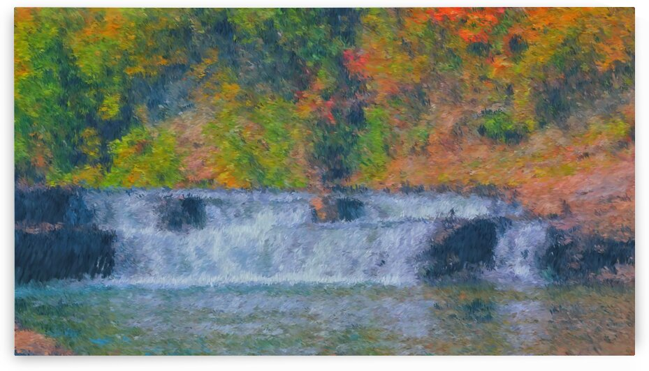 Lower Falls Painting imp by Bob McCulloch