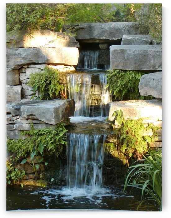 Garden waterfall by by Tara