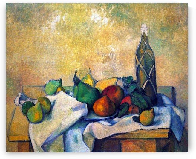 Still life, Rum by Cezanne by Cezanne