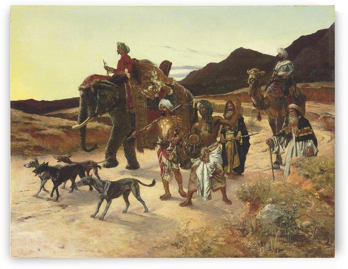The Tiger Hunt by Rudolf Ernst