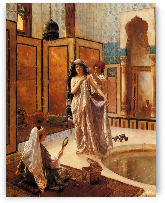 The harem bath by Rudolf Ernst