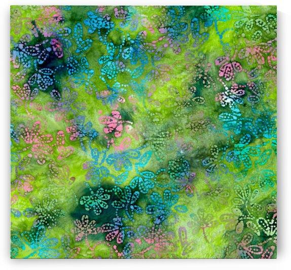 Gypsy Floral Green-Pink by Mutlu Topuz