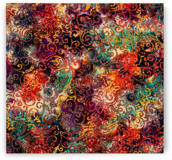 Scroll Orange Multi by Mutlu Topuz