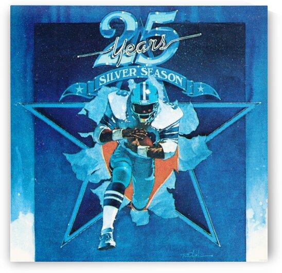 1984 Dallas Cowboys Silver Season Art by Row One Brand