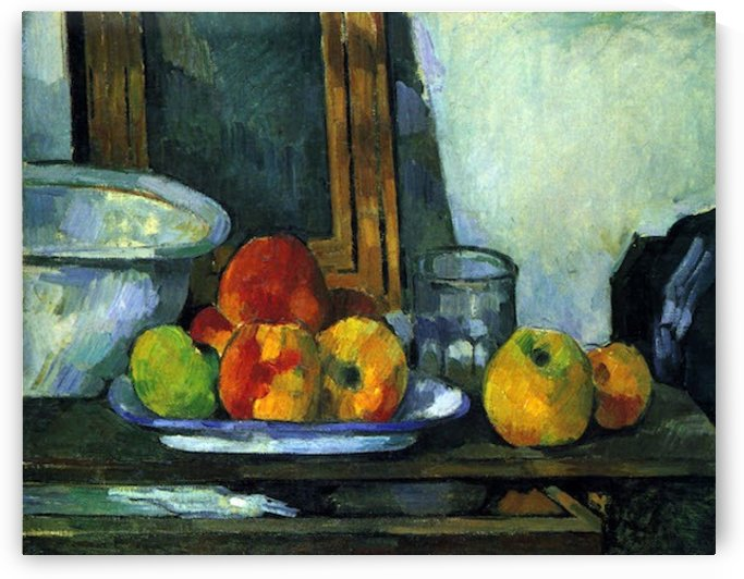 Still-life with an open drawer by Cezanne by Cezanne