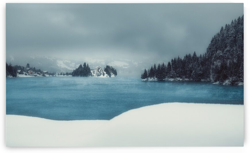 House on the Lake Print by G View Photography
