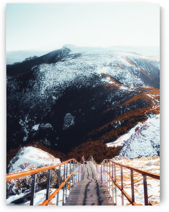 Mountain Stairs Print by G View Photography