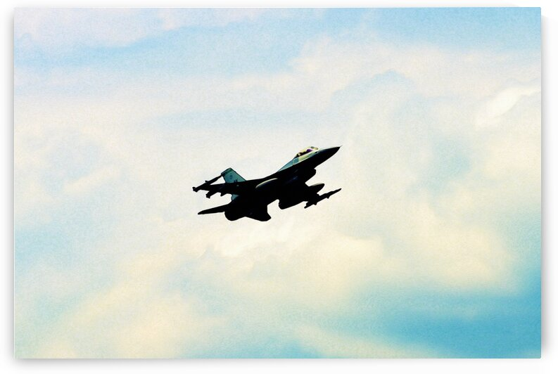An F 16 Fighting Falcon 2 in watercolor ca 2020 by ASAR STUDIOS