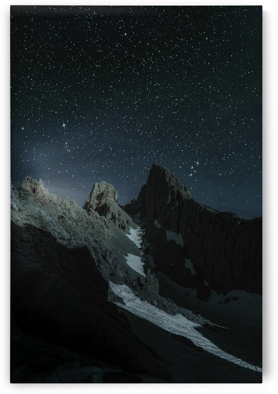 Alpine Night   Surreal Art by Ahmet Asar by ASAR STUDIOS