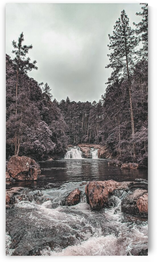 Alpine Waterfall 9   Surreal Art by Ahmet Asar by ASAR STUDIOS
