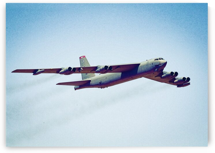 B 52 Stratofortress in watercolor ca 2020 by ASAR STUDIOS