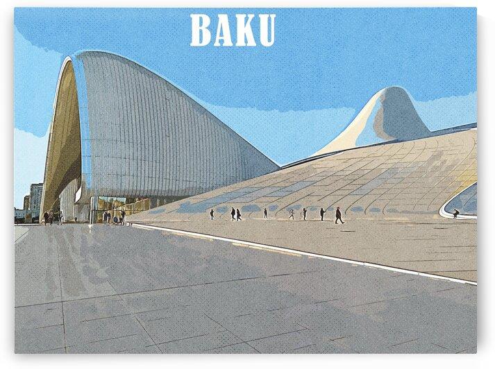 Bak    Azerbaijan  Travel Poster by ASAR STUDIOS