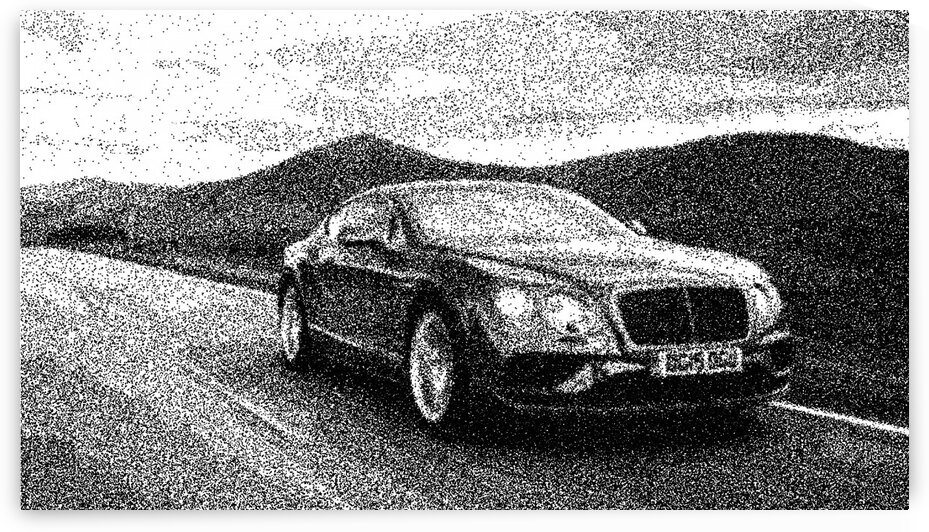 Bentley Continental GT Speed   Modern Cars   Dotted Art Poster by ASAR STUDIOS