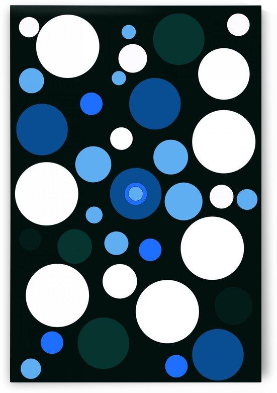 Blue Dots Abstract Art No 2 by Ahmer Asar by ASAR STUDIOS