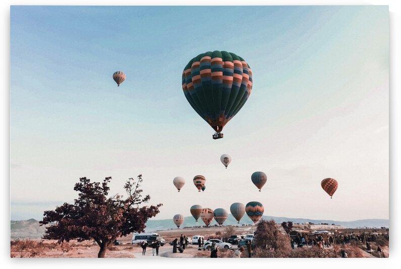 Bright air balloons floating in air  Capadocia   Surreal Art by Ahmet Asar by ASAR STUDIOS