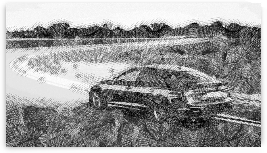 Audi RS5 Modern Cars   Etching Poster by ASAR STUDIOS