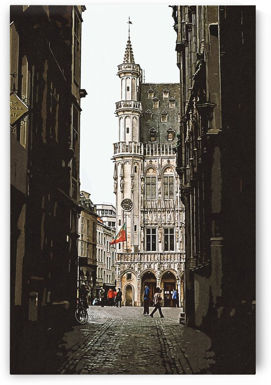 Brussels  Belgium 3    Vintage Travel Posters ca 2020 by Ahmet Asar by ASAR STUDIOS