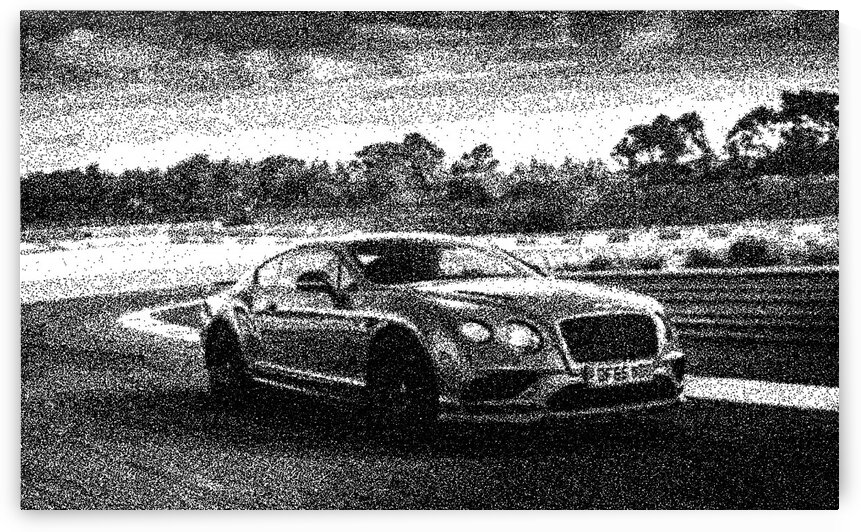 Bentley Continental Supersports   Modern Cars   Dotted Art Poster by ASAR STUDIOS
