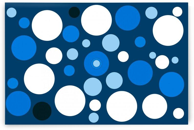 Blue Dots Abstract Art No 8 by Ahmer Asar by ASAR STUDIOS
